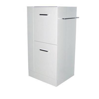 Caisson meuble sous vasque gauche blanc COOKE & LEWIS Waneta 43 cm