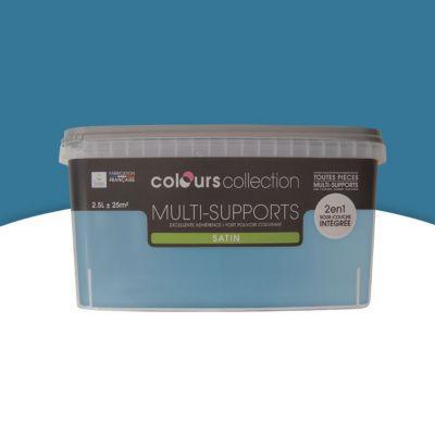 Peinture Multi Supports Bleu Prusse Satin 2 5l Castorama