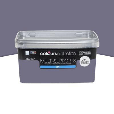 peinture multi supports colours collection iris mat 2 5 l castorama. Black Bedroom Furniture Sets. Home Design Ideas