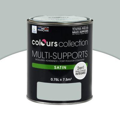 Peinture multi-supports Colours Collection gris clair satin 0,75L | Castorama
