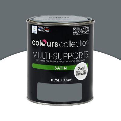 peinture multi supports colours collection macadam satin 0 75l castorama. Black Bedroom Furniture Sets. Home Design Ideas