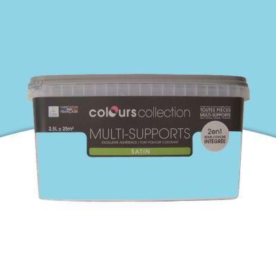 Peinture multi-supports COLOURS Collection piscine satin 2,5L