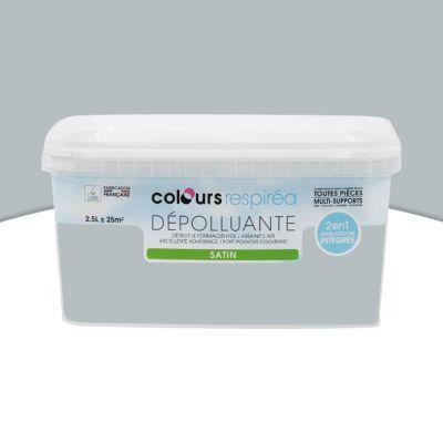 Peinture Dpolluante MultiSupports Colours Respira Gris Fer Satin