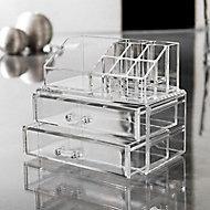 Range bijoux transparent 2 tiroirs Cooke & Lewis Manakin