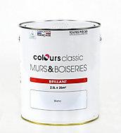 Peinture murs et boiseries COLOURS Classic blanc brillant 2,5L