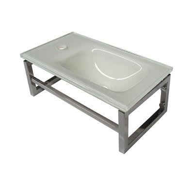 lave mains verre blanc cooke lewis galaxite 45 cm castorama. Black Bedroom Furniture Sets. Home Design Ideas