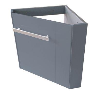 Meuble lave-mains d\'angle gris Cooke & Lewis Levyne | Castorama