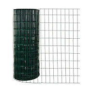 Grillage en rouleau soudé vert 100 x 50 mm, L.20 x h.1,20 m