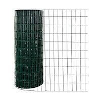 Grillage en rouleau soudé vert 100 x 50 mm, L.20 x h.2 m