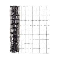 Grillage en rouleau soudé noir 76 x 100 mm, L.20 x h.1 m