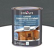 Lasure bois Colours Gris 1L garantie 12 ans