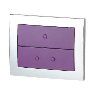 Plaque de commande pour bâti WC aubergine Lonia