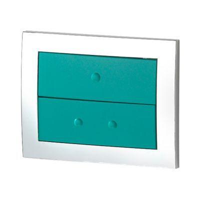 Plaque de commande pour bâti WC lagon Lonia