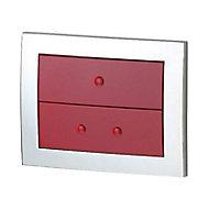 Plaque de Commande pour bâti WC rouge Lonia