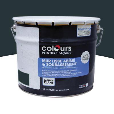 Peinture fa ade 2 en 1 colours anthracite 10l castorama - Peinture facade gris anthracite ...