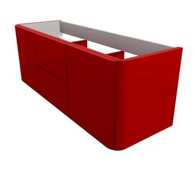 Meuble sous vasque rouge COOKE & LEWIS Ceylan 140 cm