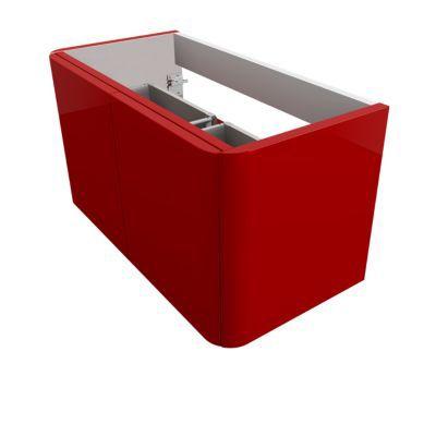 Sous-vasque Ceylan rouge 95 cm - Modèle : Meuble sous-vasque - Dimensions du produit (cm) : l. 94 x P. 48,3 x H. 50 - Éclairant : Non - Type de pose : Suspendu - Matière : MDF(Panneau de fibre à densité moyenne) - Coloris : Rouge - Matière du caisson : MD