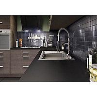Plan de travail snack stratifié noir mat anti-trace 208 x 40 cm ép.38 mm (vendu à la pièce)