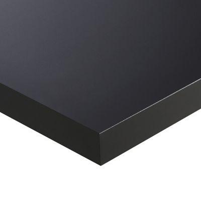 Plan De Travail Ilot Stratifie Noir Mat Antitrace 100 X 124 Cm Ep 38 Mm Vendu A La Piece Castorama