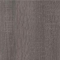 Plan de travail ilôt stratifié aspect bois décor chêne gris Topia 100 x 184 cm ép.38 mm (vendu à la pièce)