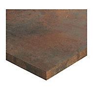 Plan de travail ilôt stratifié aspect bois Karusti 100 x 124 cm ép.38 mm (vendu à la pièce)