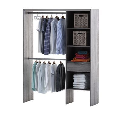 kit dressing compoz ch ne cendr x x cm castorama. Black Bedroom Furniture Sets. Home Design Ideas