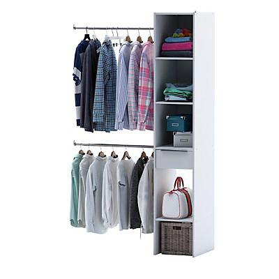 Kit Dressing Organiz Coloris Blanc H 203 X L 120 X P 50 Cm Castorama