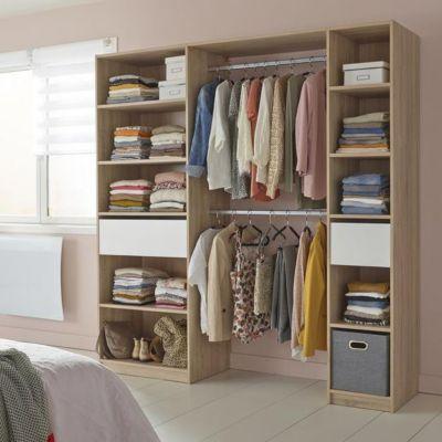 dressing tout en un cm x x cm castorama. Black Bedroom Furniture Sets. Home Design Ideas