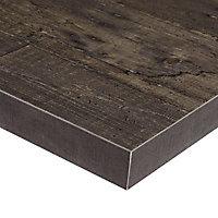 Plan de travail ilôt stratifié aspect bois Plamky 100 x 124 cm ép.38 mm (vendu à la pièce)