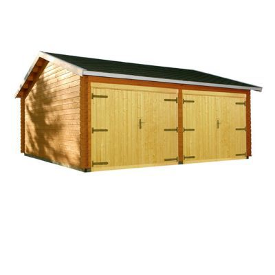 Garage bois BLOOMA Kiminki 2 31,47 m²