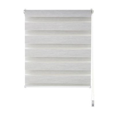 Mini store enrouleur COLOURS Elin ligné blanc 37 x 100 cm
