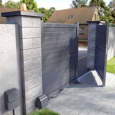 portail aluminium blooma sydney ii anthracite 300 x h. Black Bedroom Furniture Sets. Home Design Ideas