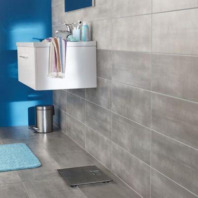 Carrelage mur gris clair 20 x 60 cm Made Mud (vendu au carton) | Castorama