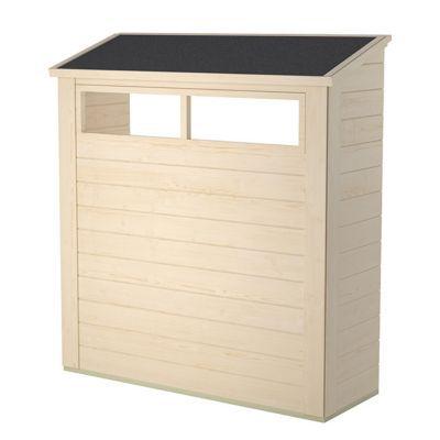 Alcôve avec 2 fenêtres pour abri de jardin bois BLOOMA Solna, option 8