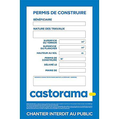 Panneau Chantier Permis De Construire Castorama 120 X 80 Cm Castorama