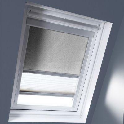Store duo fenêtre de toit GEOM SK06 gris clair