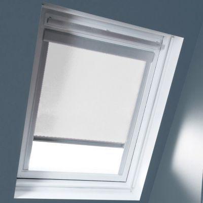 Store occultant fenêtre de toit GEOM M04 blanc
