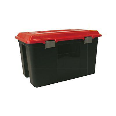 Malle De Rangement Noir Et Rouge Maleo 100l Castorama