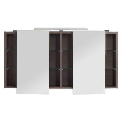 Armoire miroir décor chêne fumé Cooke & Lewis Calao 120 cm
