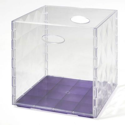 bo te de rangement carr e en plastique mixxit transparent. Black Bedroom Furniture Sets. Home Design Ideas