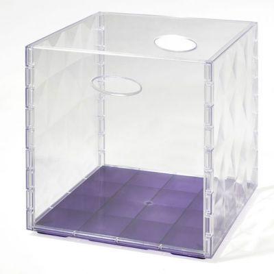 Boîte de rangement carrée en plastique Mixxit transparent   Castorama