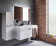 Ensemble de salle de bains Belice 105 cm blanc droit