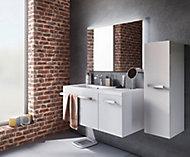 Ensemble de salle de bains Belice gauche blanc 105 cm