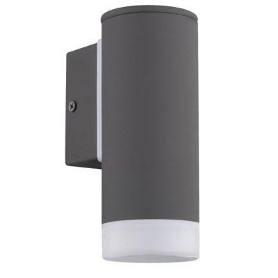 Applique extérieure montante BLOOMA Urca noir LED
