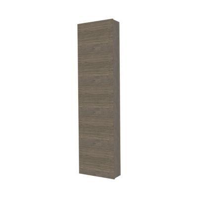 colonne de salle de bains contre porte d cor ch ne fum. Black Bedroom Furniture Sets. Home Design Ideas