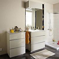 Commode de salle de bains taupe laqué Cooke & Lewis Pamili 60 cm
