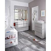 Meuble de rangement salle de bains haut taupe laqué Cooke & Lewis Pamili 120 cm