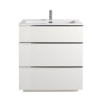 Meuble sous vasque blanc laqué COOKE & LEWIS Pamili 80 cm