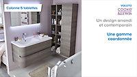 Colonne de salle de bains décor bois grisé Cooke & Lewis Voluto 22 cm