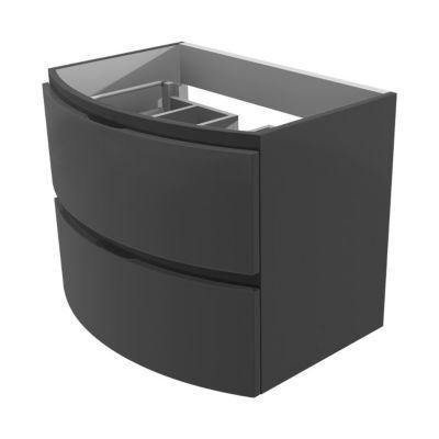 Meuble sous vasque gris athracite laquée COOKE & LEWIS Vague 69 cm